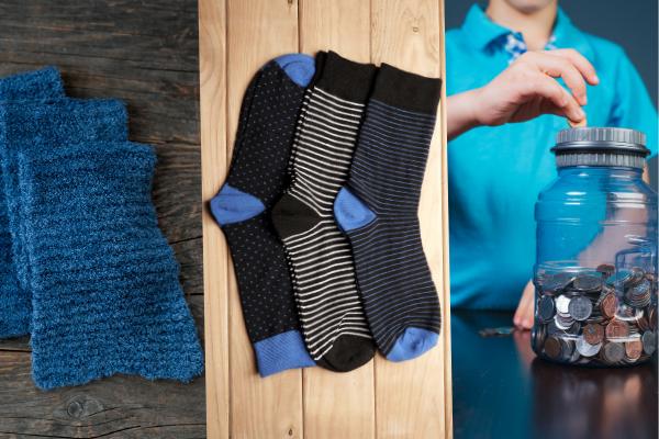 knit scarf socks change